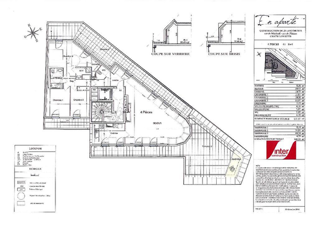 Appartement 4P - 127.32m² + Terrasses
