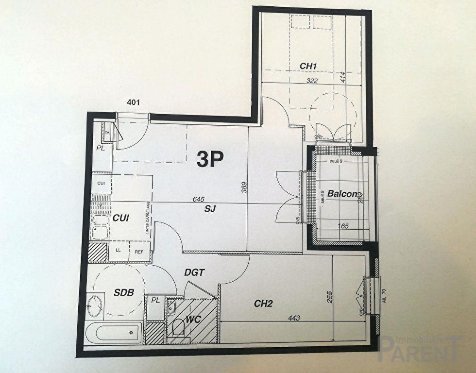 Appartement Vanves 3 pièce(s) 58,15 m2