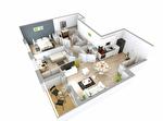 A vendre appartement T3 de 59 m2 au 1er étage avec un balcon