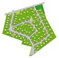 A 40 mn à l'ouest de Rennes à vendre terrain constructible de 362 m2 à Saint Méen le Grand