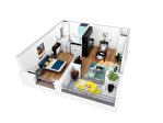 A vendre appartement T2 de 44 m2 au 2ème étage avec une loggia dans une résidence séniors